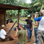 camera crew in guaymi village