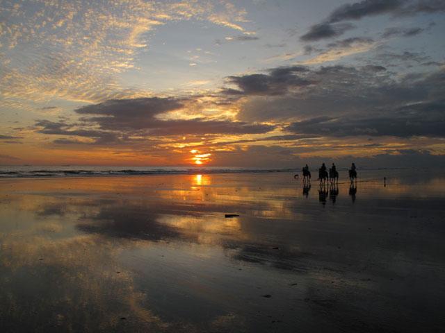 beach ride sunset