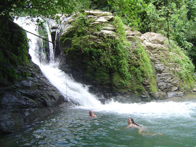 guaymi waterfall swim