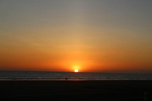 orange sunset las lajas